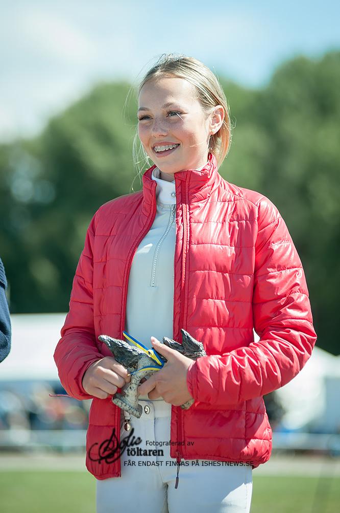 Beatrice von Bodungen var den junior som vann domarnas pris / foto: Sofie Lahtinen Carlsson, www.toltaren.wordpress.com