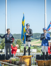 Överst på prispallen. Vignir!  Foto: Sofie Lahtinen Carlsson