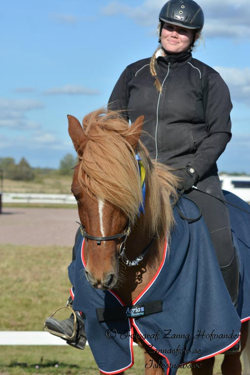 Klubbmästarna ungdom: Evelina Franzén - Viljar från Rabbesta Foto: Zanna Hofvander