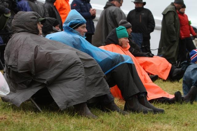 Regn stoppar inte en intresserad publik. Foto: Karin Cederman/ishestnews.se