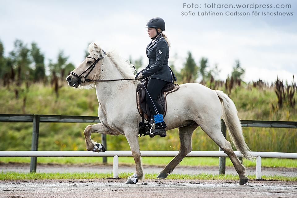 På andra plats i T3 Ungdom: Johanna Thorvaldsson på Glitnir från Kulltorp, 5.39