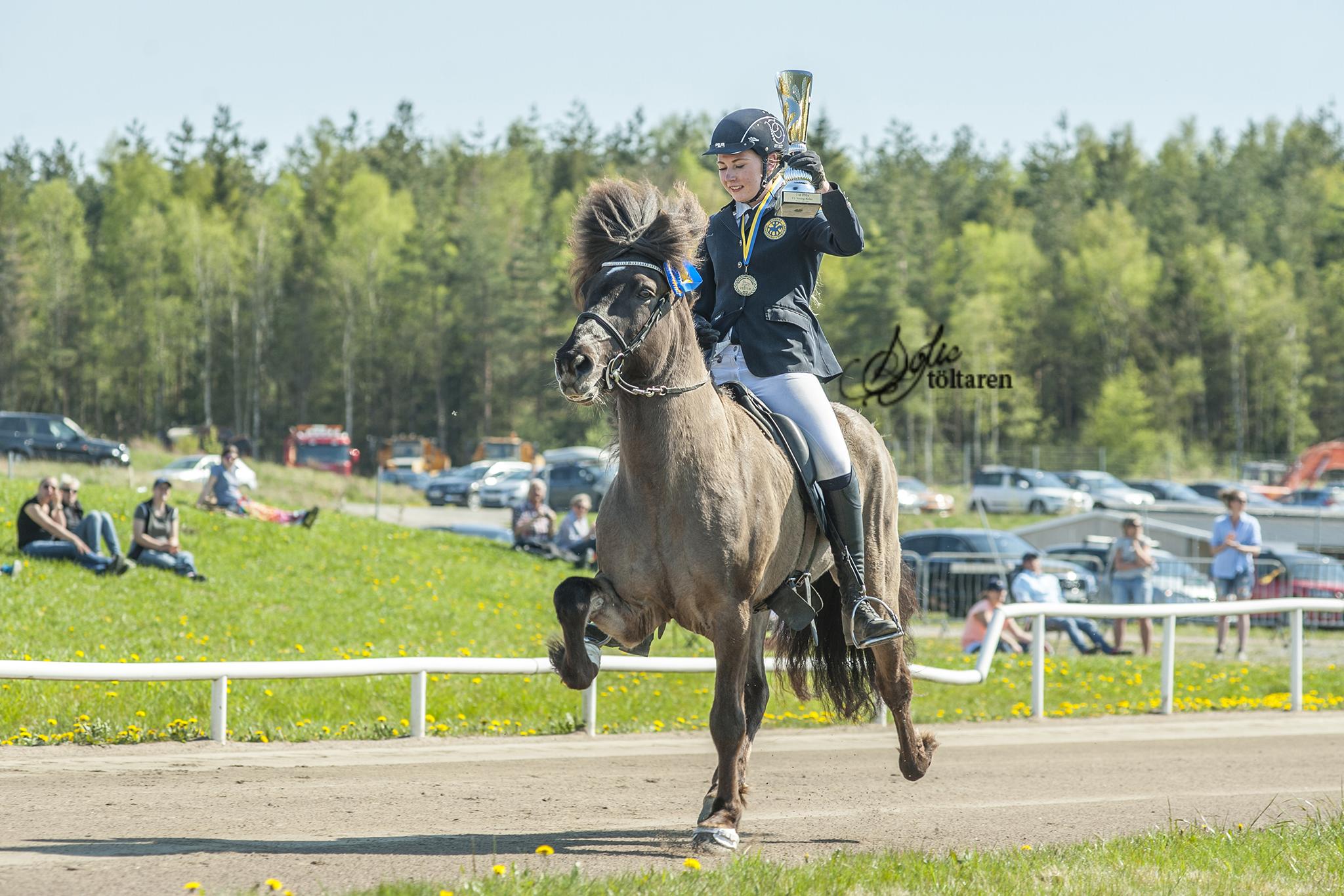Filippa och Máni hade en bra helg. De vann även V1 Ungdom Foto: Sofie Lahtinen Carlsson