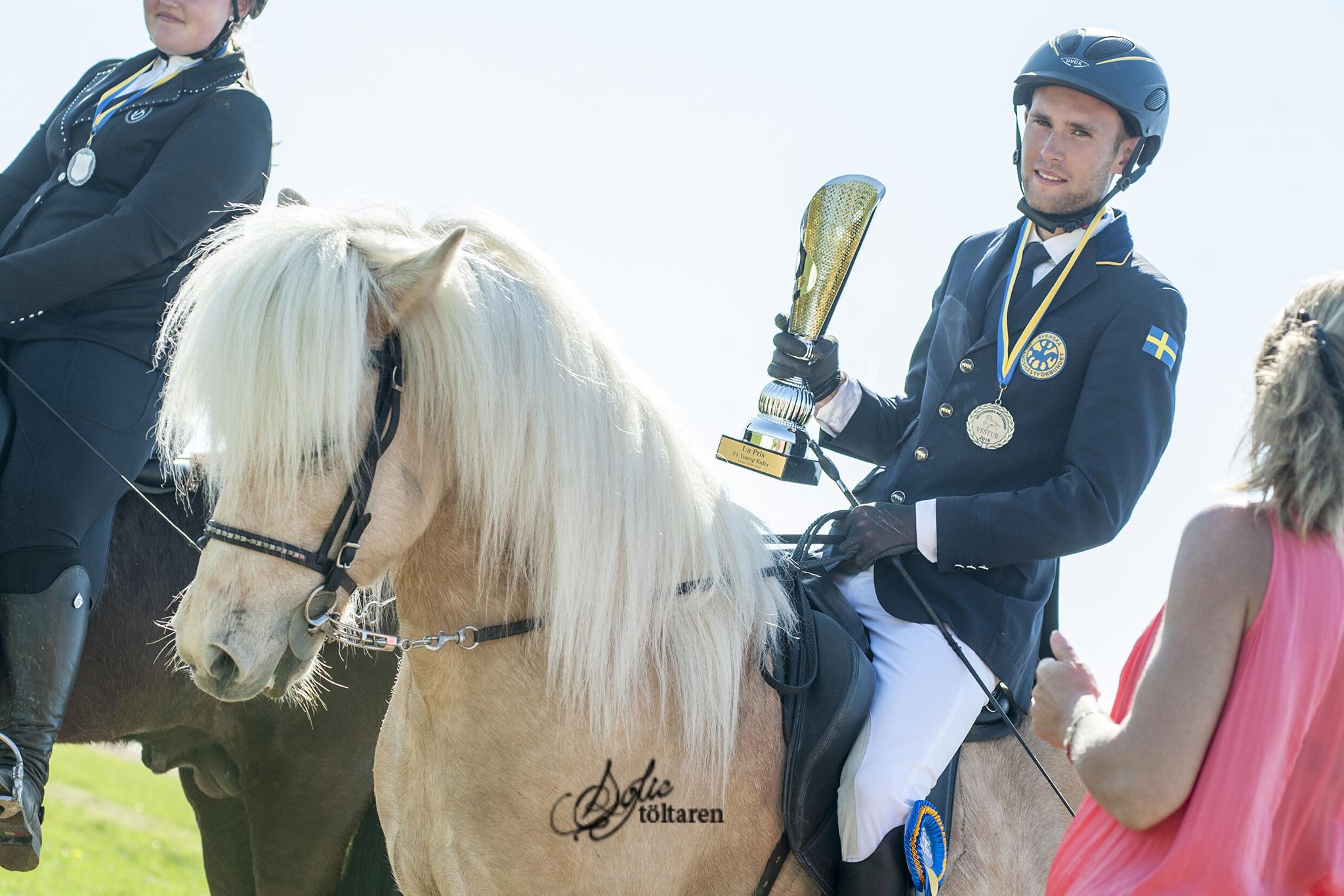 Samma poäng frö Marcus och Seifur som fick förstaplatsen samt Feather Prize Foto: Sofie Lahtinen Carlsson