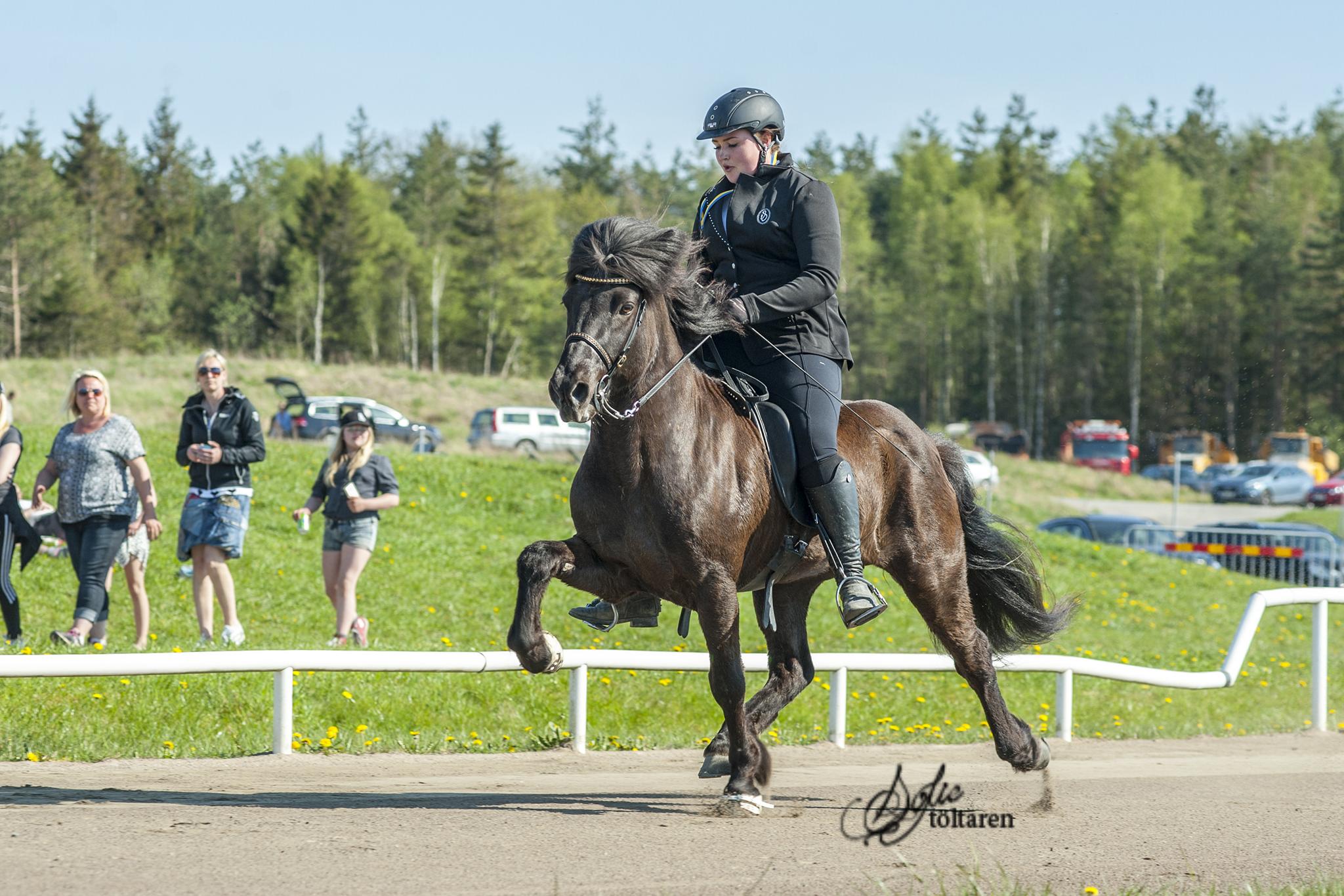 ... och Olivia och Krokur som kom på andra plats i F1 Ungdom samt Anna-Stinas pris Foto: Sofie Lahtinen Carlsson