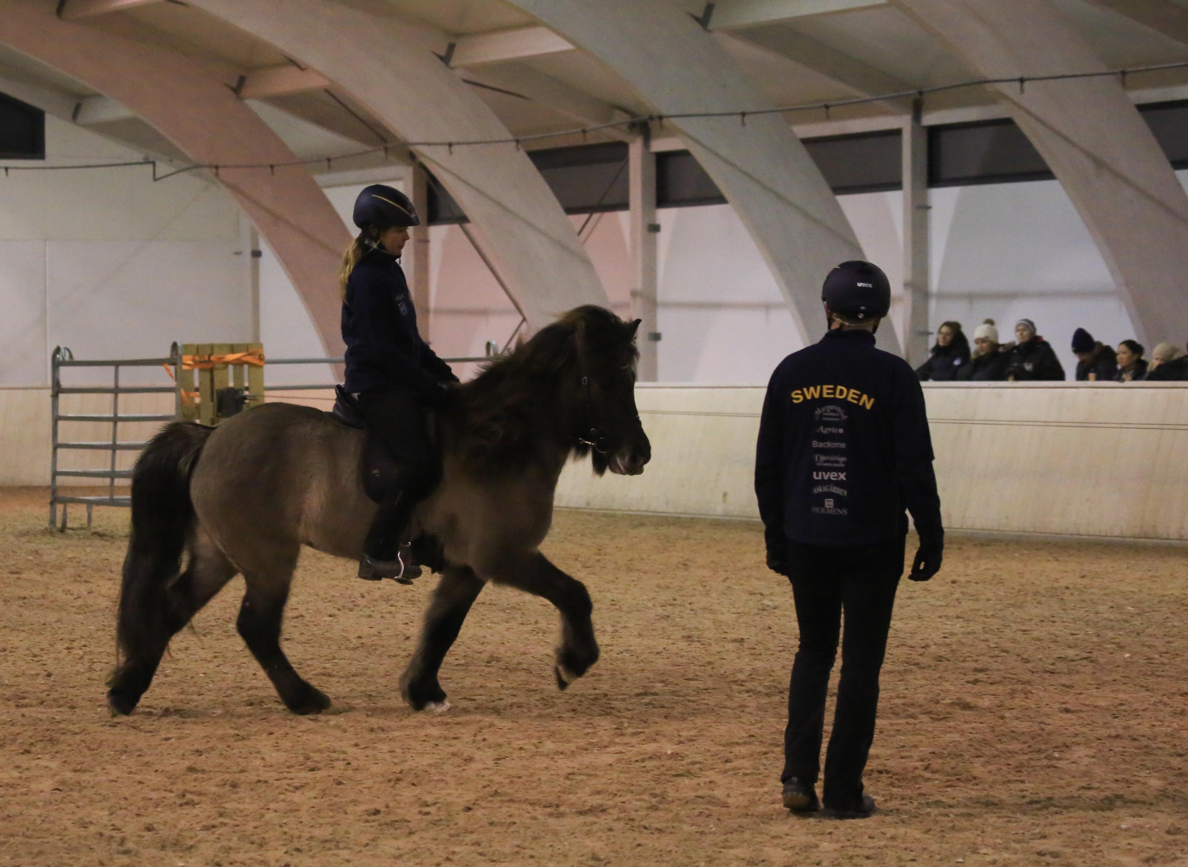 Elise och Lilja får en clinic-lektion Foto: Yvonne Benzian/ishestnews.se