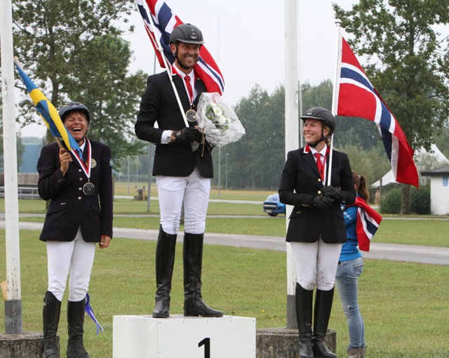 Glada medaljörer! Foto: Anette Alsterå/ishestnews.se