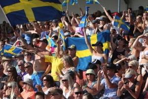 Svenska hejarklacken goes nuts! Foto: Karin Cederman/Ishestnews
