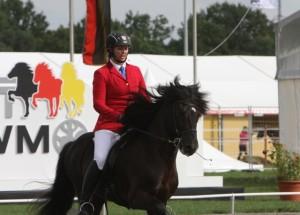 Isabelle och Viktor in som tvåa inför A-finalen. Foto: Karin Cederman/Ishestnews