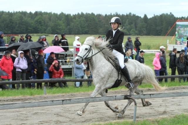 Liselotte och Halastjarna blev Svenska Mästare Ungdom och kom på 9:e plats bland alla startande. Foto: Karin Cederman/ishestnews.se