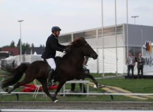 Magnus och Hraunar tog brons! Foto: Yvonne Benzian/Ishestnews