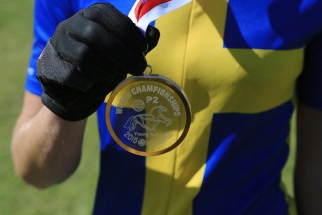 Så här ser den ut! Guldmedaljen Foto: Ishestnews.se