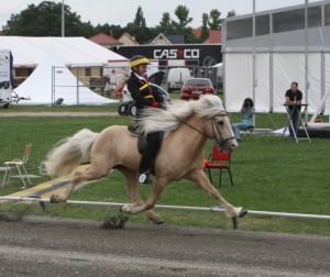 Ómi är också snabb! Foto: Karin Cederman/Ishestnews