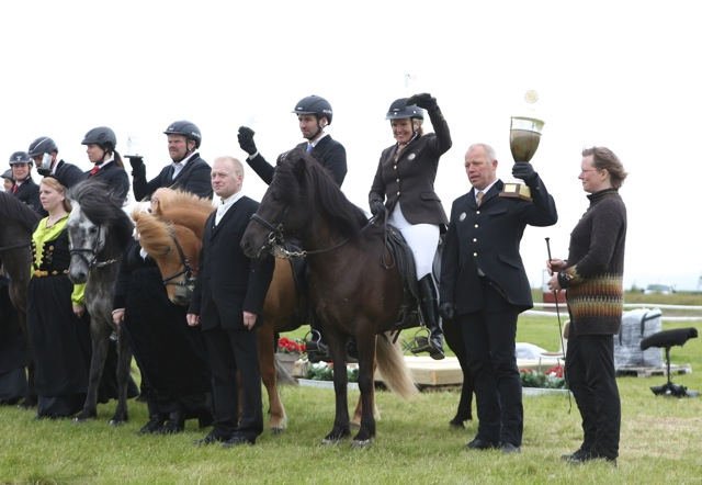 Álfhildur frá Sydri-Gegnishólum – första pris i sexåriga stoklassen Foto: Yvonne Benzian/ishestnews.se