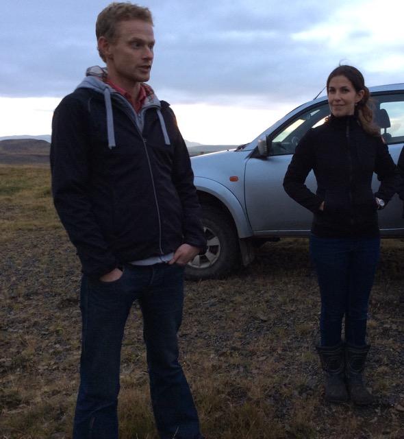 Josefine Denami och Sigfús Sigfússon på Vestri-Geldingaholti utanför Selfoss  Foto; Änges Kristina Lundén