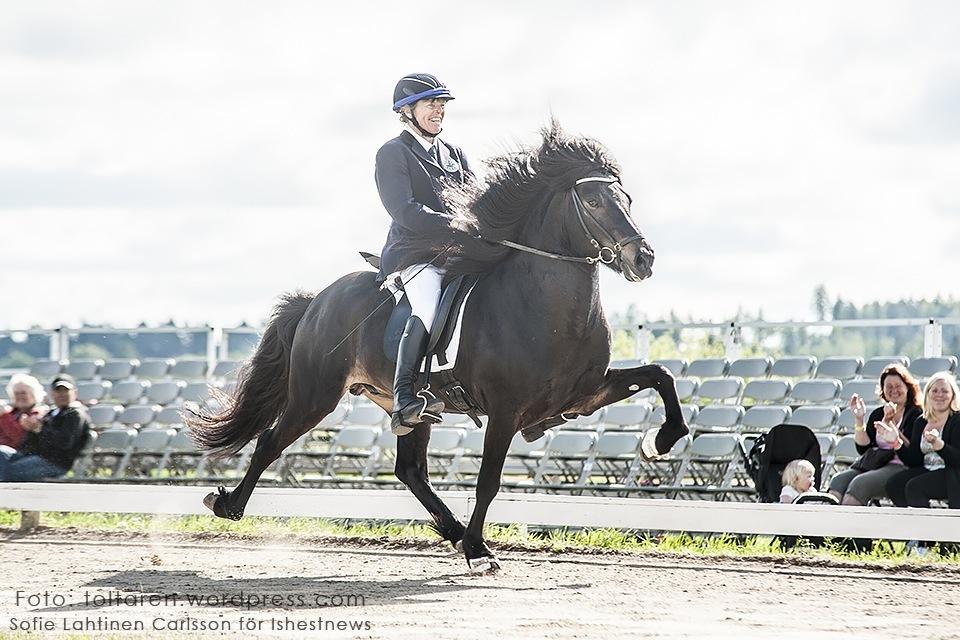 Unn och Hrafndynur vidare till A-final i fyrgång. Foto: Sofie Lahtinen Carlsson/www.toltaren.worpress.com