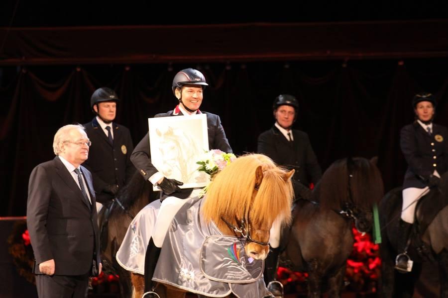 En glad vinnare. Foto: Gabrielle Severinsen