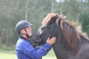 Lipurtá från Kolungens gård och Nina. Foto: Christina Can Lindholm