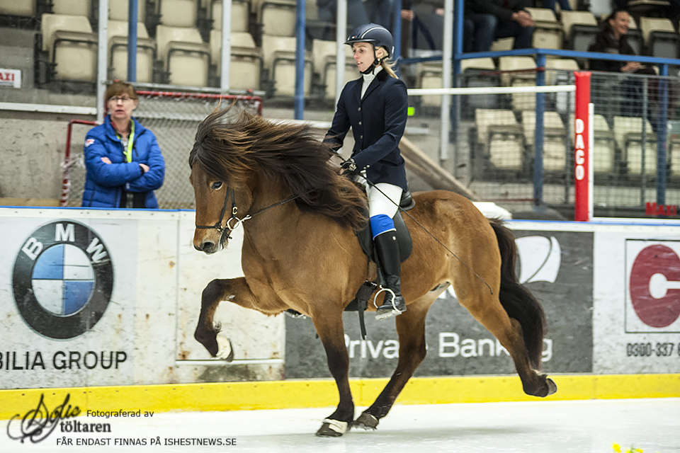 Malin och Valdi gjorde en fin prestation på isen. Foto: Sofie Lahtinen Carlsson